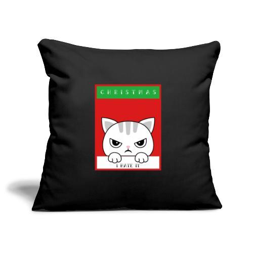 Ik haat kerstmis boze kat - Sierkussenhoes, 45 x 45 cm