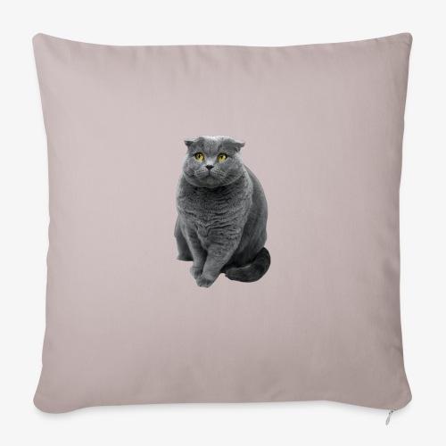 Graue Katze - Sofakissenbezug 44 x 44 cm