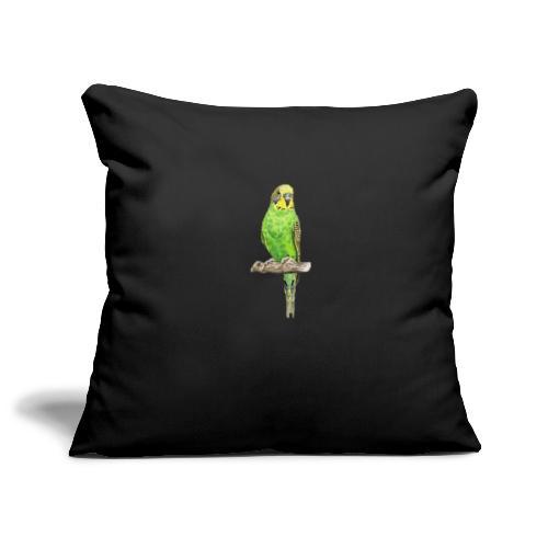 Green bird amazon perico - Funda de cojín, 45 x 45 cm