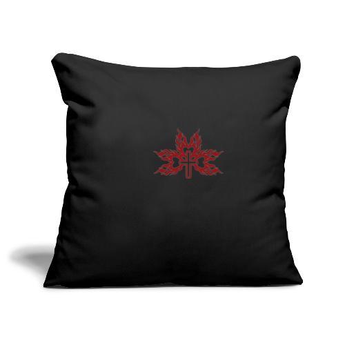 Cross with flaming hearts 01 - Sofa pillowcase 17,3'' x 17,3'' (45 x 45 cm)
