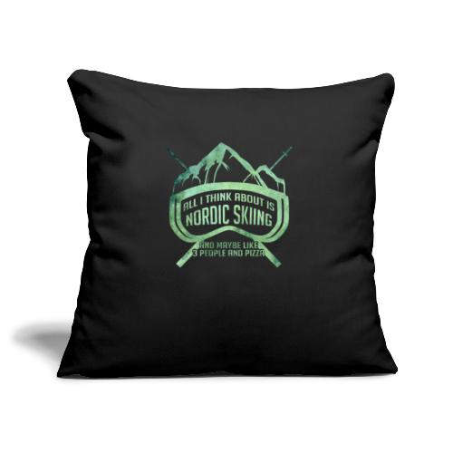 Nordic Skiing And Pizza People - Sofa pillowcase 17,3'' x 17,3'' (45 x 45 cm)