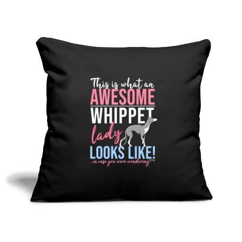 Awesome Whippet Lady VI - Sohvatyynyn päällinen 45 x 45 cm