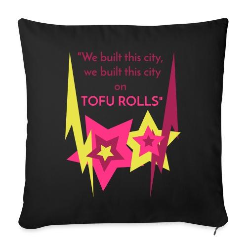 TOFU Rolls_Black - Sofa pillowcase 17,3'' x 17,3'' (45 x 45 cm)
