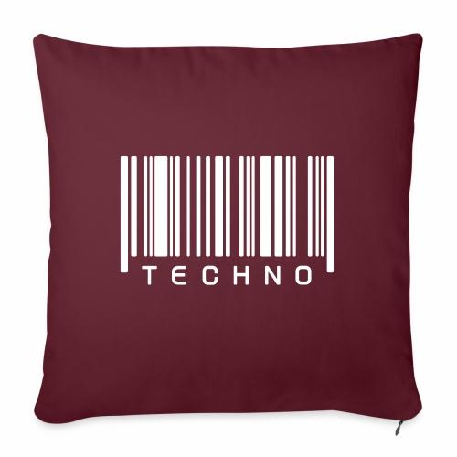 Techno Barcode Strichcode Scan Code Acid Mnml Rave - Sofakissenbezug 44 x 44 cm