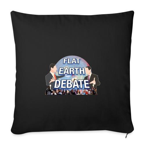 FLAT EARTH DEBATE - Sofa pillowcase 17,3'' x 17,3'' (45 x 45 cm)