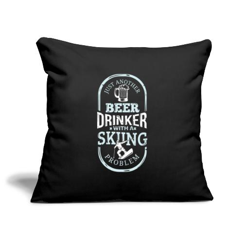 Beer Drinker With Skiing Problem - Sofa pillowcase 17,3'' x 17,3'' (45 x 45 cm)