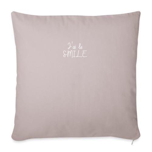J'ai le SMILE - Housse de coussin décorative 45x 45cm