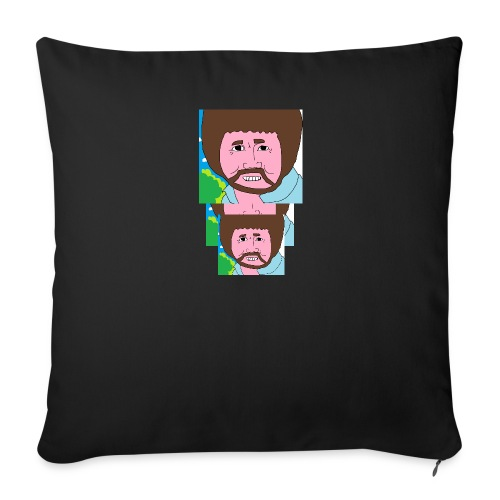 Bob Ross - Sofa pillowcase 17,3'' x 17,3'' (45 x 45 cm)