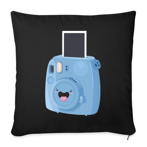 Appareil photo instantané bleu - Housse de coussin décorative 45x 45cm