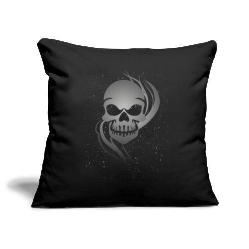 Dödskalle - Smoking Skull - Soffkuddsöverdrag, 45 x 45 cm