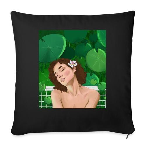 girl in garden - Poszewka na poduszkę 45 x 45 cm