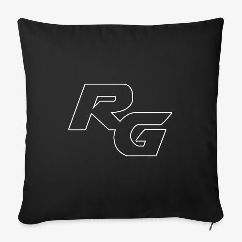 Logo RG Minimal - Copricuscino per divano, 45 x 45 cm
