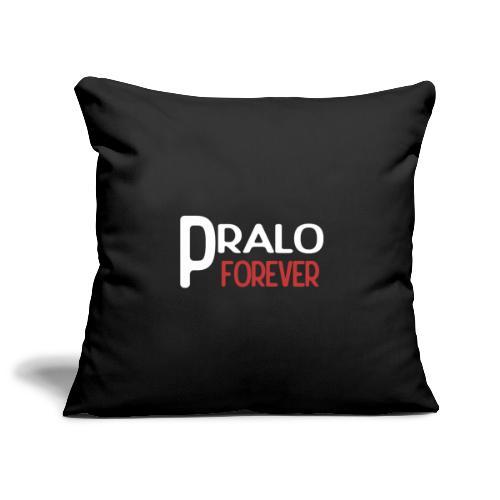 pralo forever blanc et rouge - Housse de coussin décorative 45x 45cm