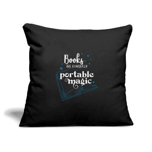 0030 books are unique magic | Magic - Sofa pillowcase 17,3'' x 17,3'' (45 x 45 cm)