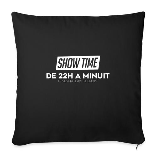 Logo ShowTime Blanc - Housse de coussin décorative 45x 45cm