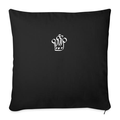 MTeVrede 6 kroon wit2 - Sofa pillowcase 17,3'' x 17,3'' (45 x 45 cm)