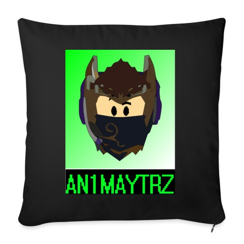 AN1MAYTRZ logo + title - Sofa pillowcase 17,3'' x 17,3'' (45 x 45 cm)
