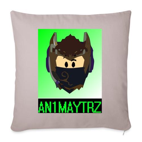 AN1MAYTRZ logo + title - Sofa pillowcase 17,3'' x 17,3'' (45 x 45 cm)