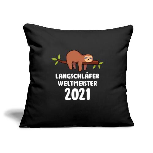Faultier Spruch Schlafen Schlafshirt Geschenk - Sofakissenbezug 44 x 44 cm