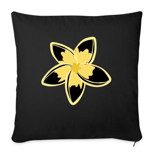 Blusas, Accesorios y mas, Flor Amarillo y negro - Funda de cojín, 45 x 45 cm