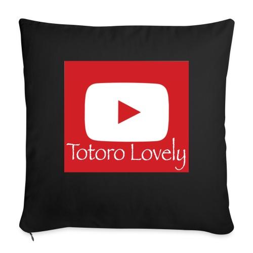 Totoro Lovely + YT logo bak, fram - Soffkuddsöverdrag, 45 x 45 cm