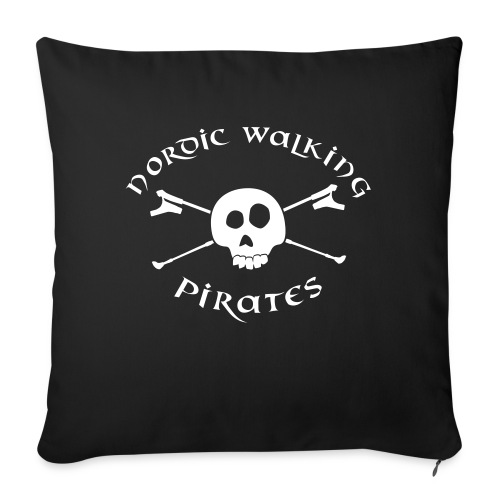 Nordic Walking Pirates (white) - Sofakissenbezug 44 x 44 cm