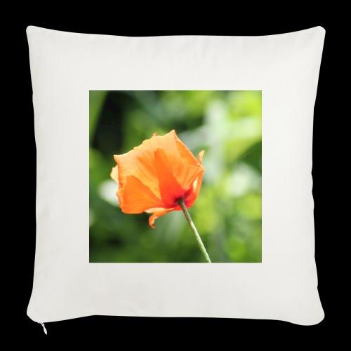 Poppy Flower - Sofa pillowcase 17,3'' x 17,3'' (45 x 45 cm)