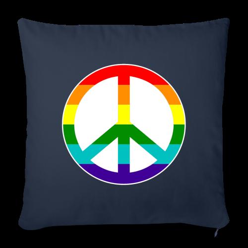 Gay pride peace symbool in regenboog kleuren - Sierkussenhoes, 44 x 44 cm