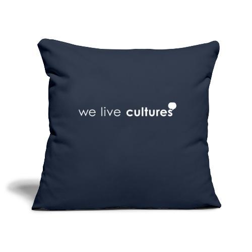 we live cultures - weiss - Sofakissenbezug 44 x 44 cm