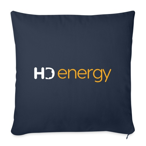 Wit Energy HD-logo - Sierkussenhoes, 44 x 44 cm