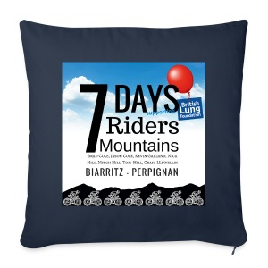 7 days 7 riders 7 mountains Square artwork - Sofa pillow cover 44 x 44 cm