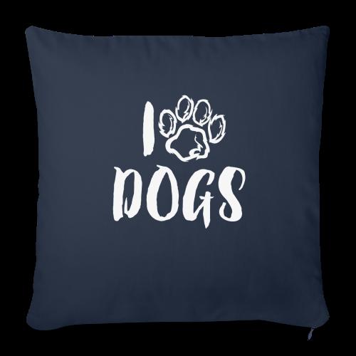 I LOVE DOGS / AMO A LOS PERROS - Funda de cojín, 44 x 44 cm