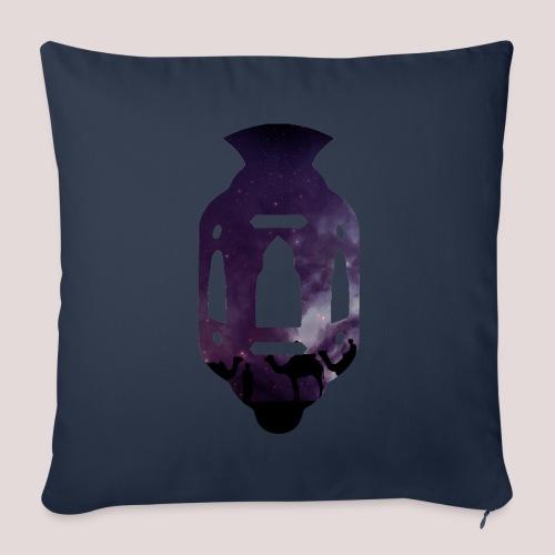 La Lanterne mauve - Housse de coussin décorative 44x 44cm