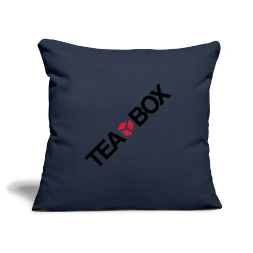 Logo Tea Box simple - Sofa pillowcase 17,3'' x 17,3'' (45 x 45 cm)