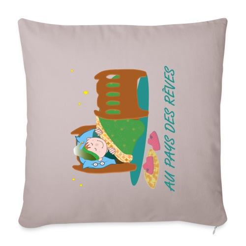 Personnage endormi - Housse de coussin décorative 45x 45cm
