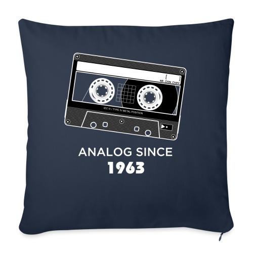 Analog since 1963 - Sofa pillowcase 17,3'' x 17,3'' (45 x 45 cm)