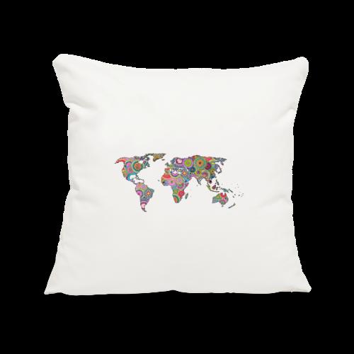 Hipsters' world - Sofa pillowcase 17,3'' x 17,3'' (45 x 45 cm)