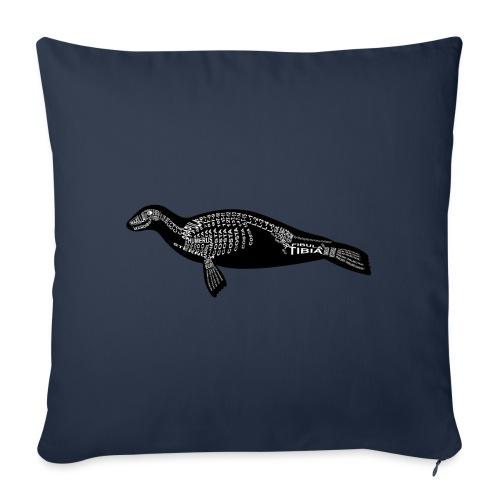 Robben skelet - Sierkussenhoes, 45 x 45 cm