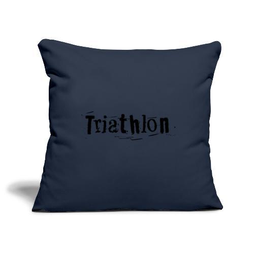 Triathlon Letter Art - Sofakissenbezug 44 x 44 cm