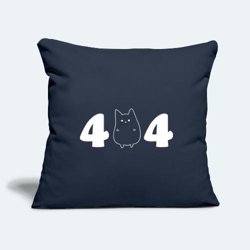 404 IT Geschenk für Informatiker Katze NOT FOUND - Sofakissenbezug 44 x 44 cm