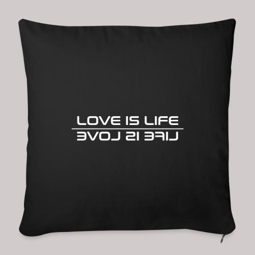Love is Life - Funda de cojín, 45 x 45 cm
