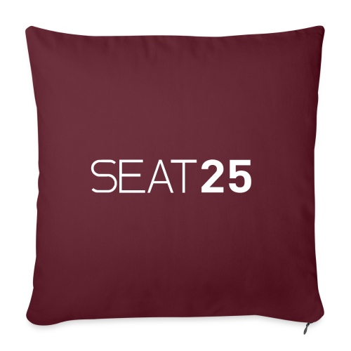 Seat25 Logo Light - Sofa pillowcase 17,3'' x 17,3'' (45 x 45 cm)