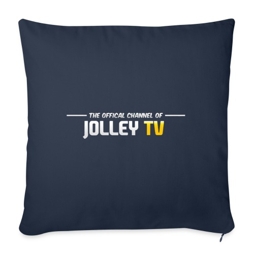 JolleyTV logo - Sofa pillowcase 17,3'' x 17,3'' (45 x 45 cm)