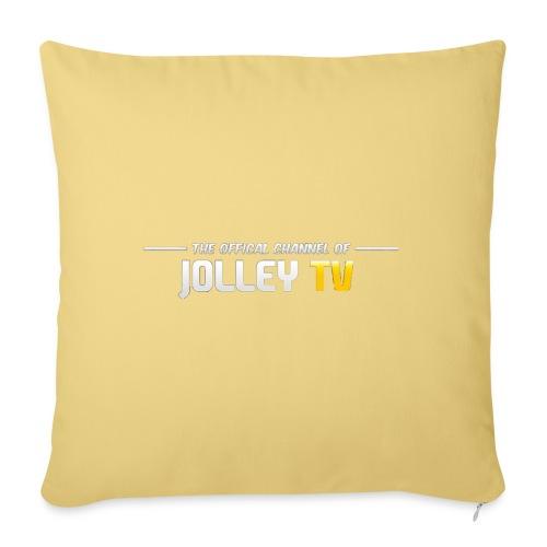 JolleyTV logo - Sofa pillowcase 17,3'' x 17,3'' (45 x 45 cm)