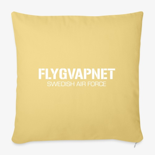 FLYGVAPNET - SWEDISH AIR FORCE - Soffkuddsöverdrag, 45 x 45 cm