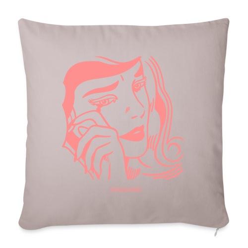 Roy Lichtenstein, ragazza che piange - Copricuscino per divano, 45 x 45 cm