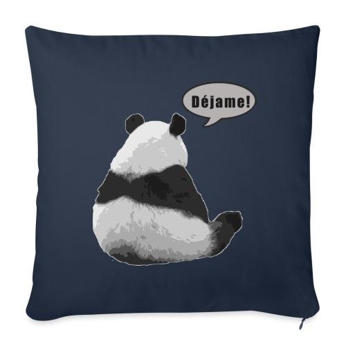 Panda Dejame - Funda de cojín, 45 x 45 cm