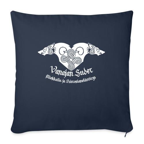 Vanajan Sudet Logo (valkoinen) - Sohvatyynyn päällinen 45 x 45 cm