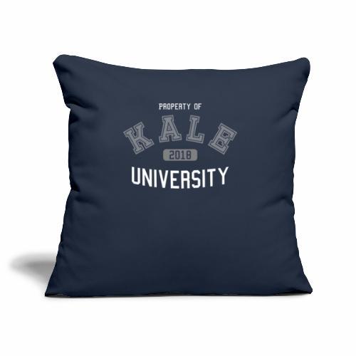 Kale University - Grünkohl Universität - Veganer - Sofakissenbezug 44 x 44 cm