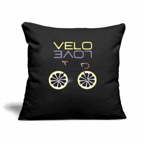 Lemon Bike - Velo Love Shirt Rennradfahrer Shirt - Sofakissenbezug 44 x 44 cm